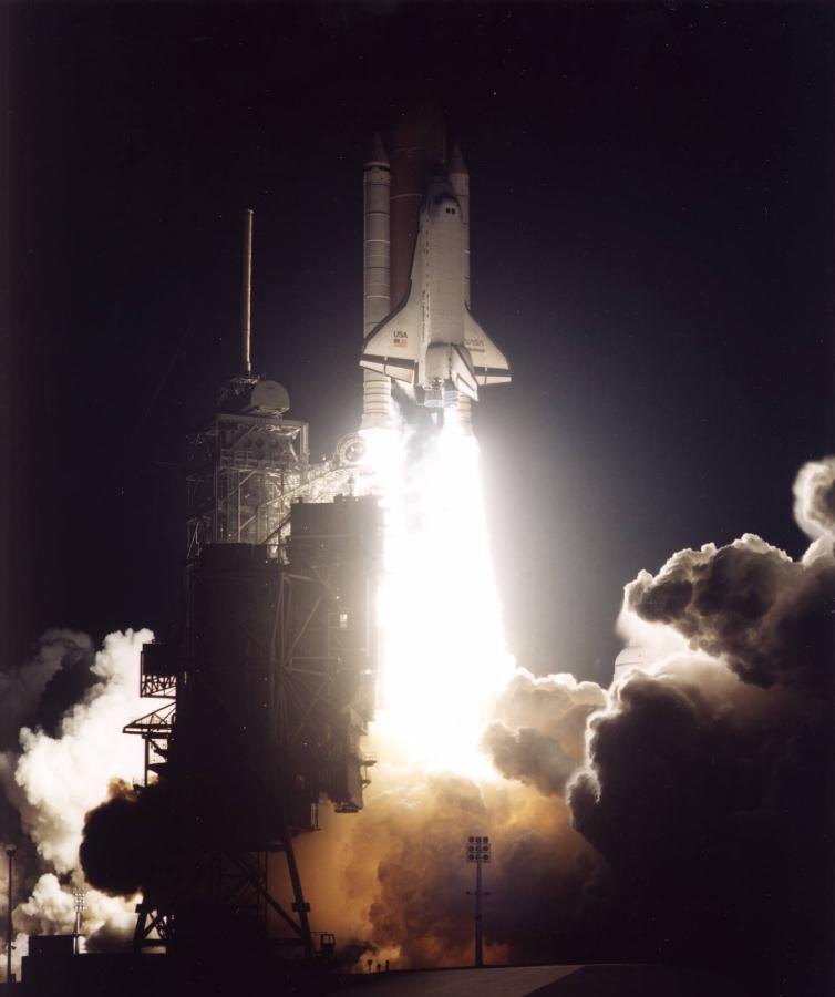 Nasa Night Launch Shuttle Pictures - The Punchcard Posse