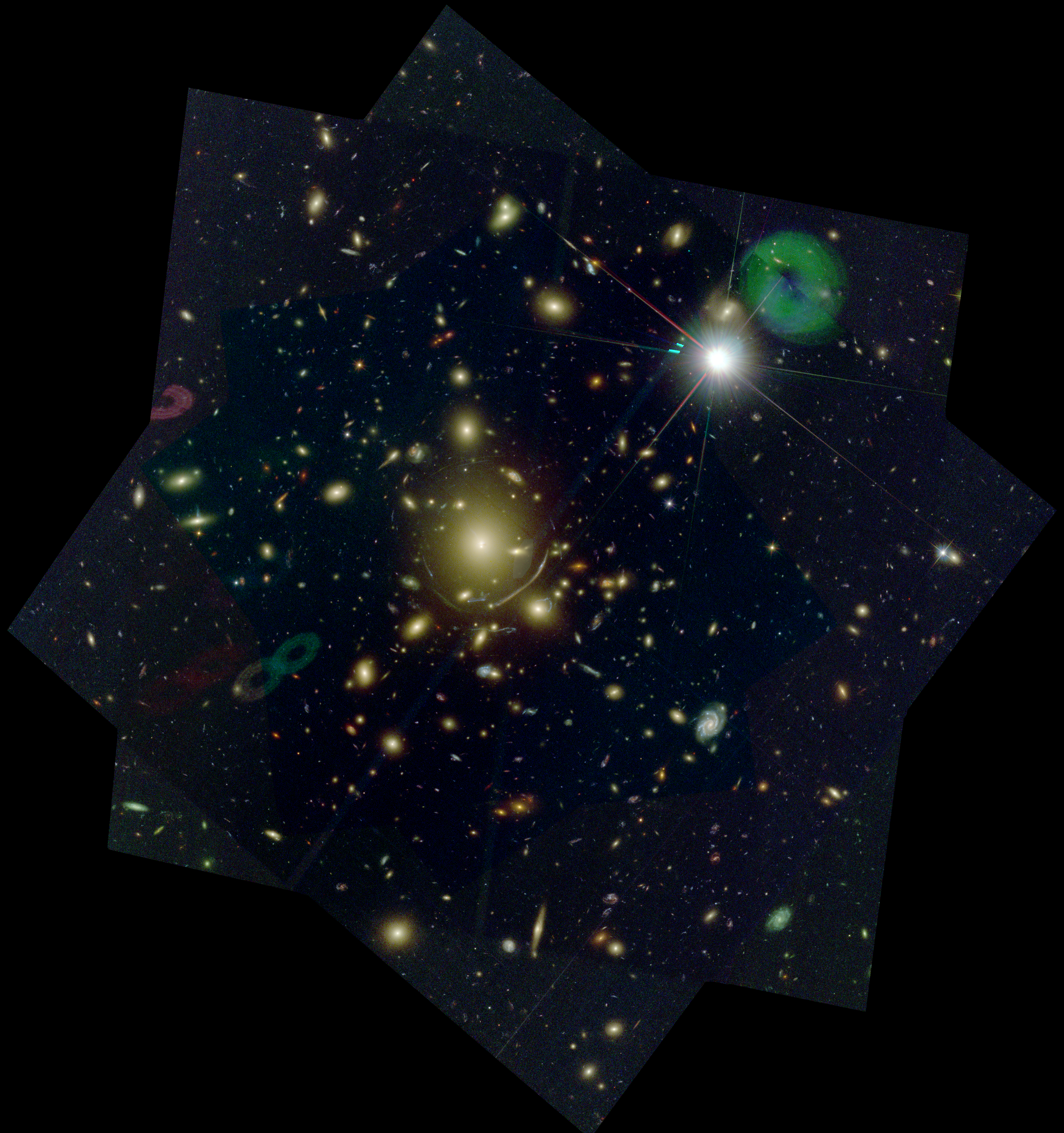 cluster lensing and supernova survey with hubble clash